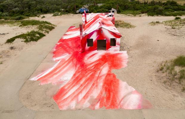 Rockaway Katharina Grosse instalação artística