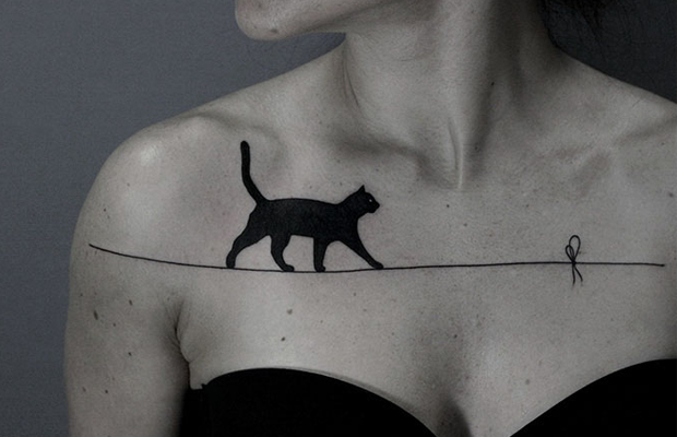Ilya Brezinski tattoos surreais pontilhismo blackwork