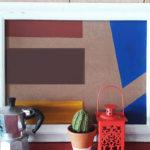 Crie um quadro geométrico inspirado nas formas, linhas e cores de Mondrian