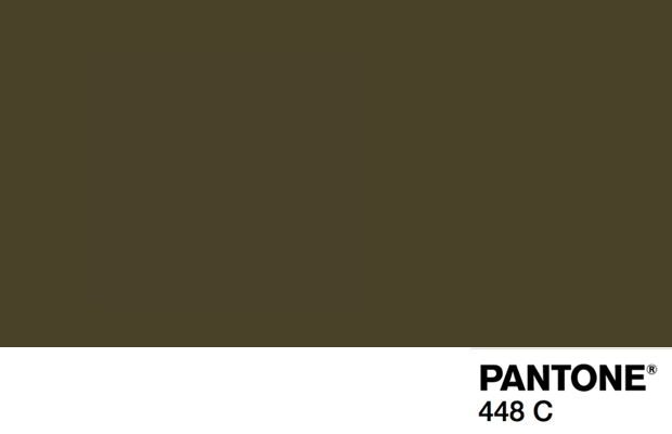 Pantone 448C cor mais feia do mundo