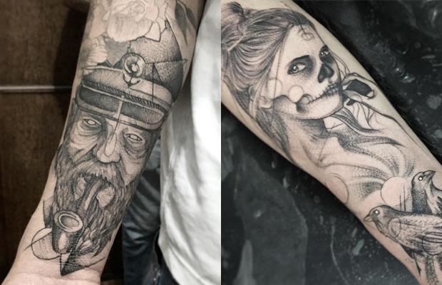 Gustavo Abreu blackwork tattoo