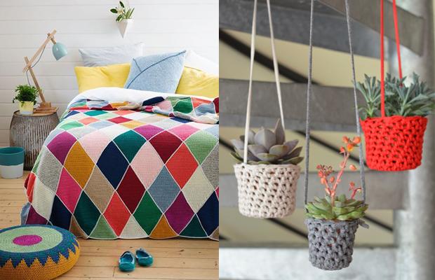 tendência decoração tricô crochê