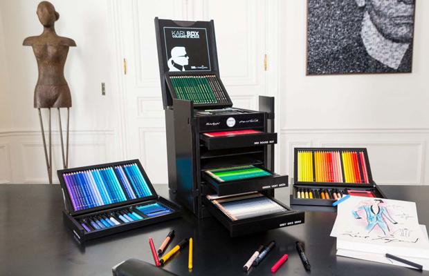 Karlbox kit pintura Faber-Castell Karl Lagerfeld