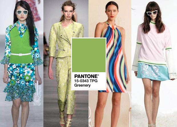 Pantone tendências de cores primavera/verão 2017