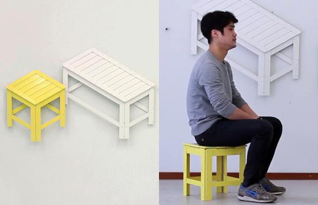 De-Dimension Jongha Choi bancos 2D 3D