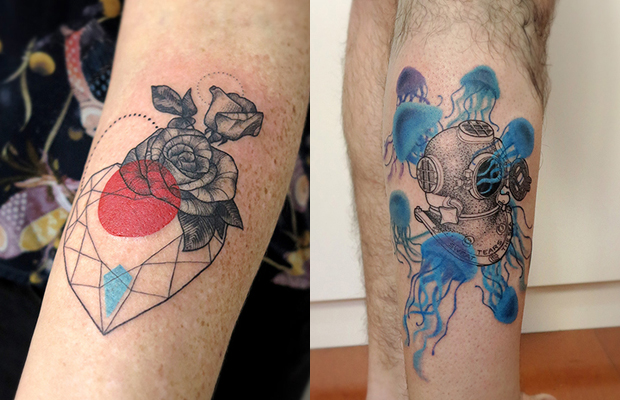 Lan Pravda tatuagens surreais lúdicas