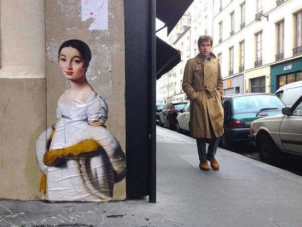 Obras de arte clássicas saem dos museus e são espalhadas pelas ruas através de cartazes lambe-lambe