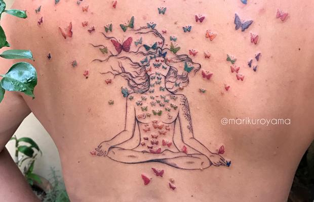 Mari Kuroyama tattoo
