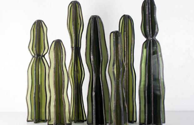 esculturas vidro lesley green bespoke glass cactos suculentas