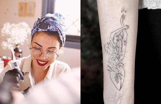 houhou tattoo tatuagem com cristal Verônica Alves