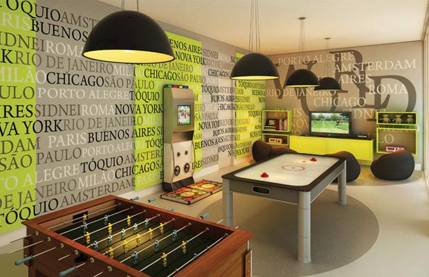 sala de jogos decoração