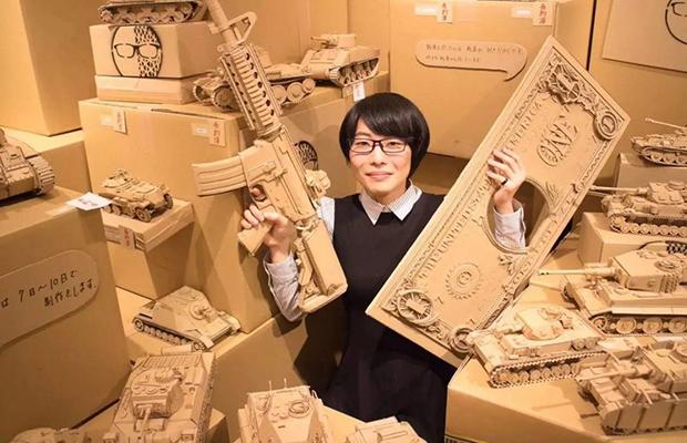 arte com papelão Monami Ohno