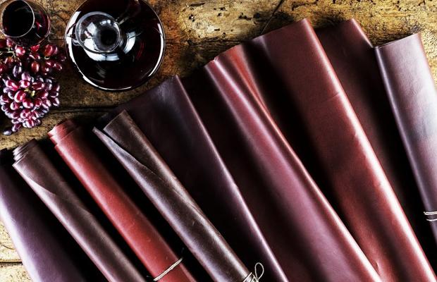 Wineleather couro bagaço de uva