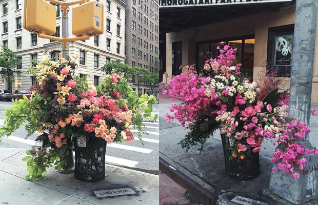 Lewis Miller arranjos florais lixo NY