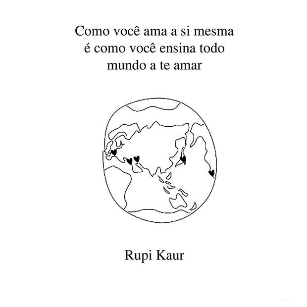 Conhecido Rupi Kaur faz poesias de força e sensibilidade sobre temas da vida  AU26
