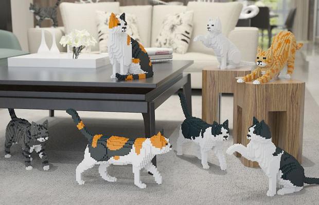 esculturas de gatos