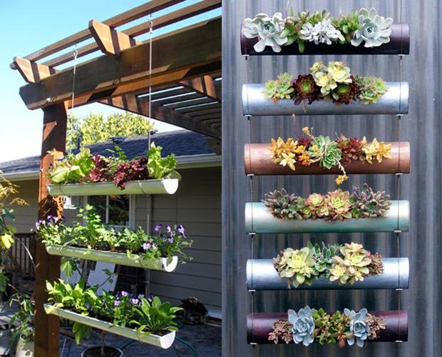 85cba7bb3 5 ideias baratas de como montar o seu jardim vertical ou horta ...