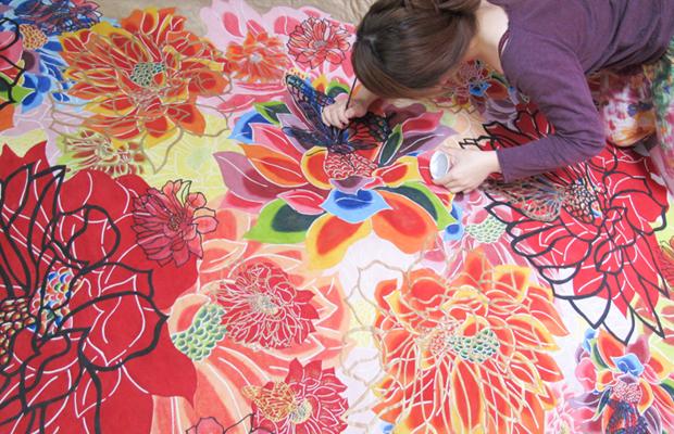 técnica pintura Bingata