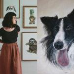 retratos personalizados de animais Bruna Maria