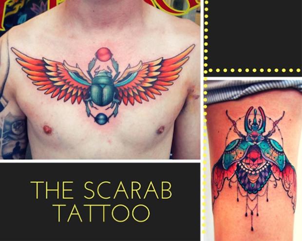 tatuagens egípcias Egito escaravelho