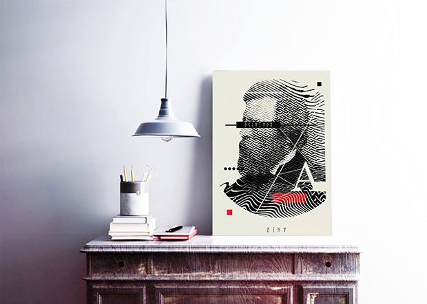 Papel, estilete, estêncil, grafitti. O trabalho fantástico de Pina mescla técnicas, formas humanas e a geometria dura das cidades