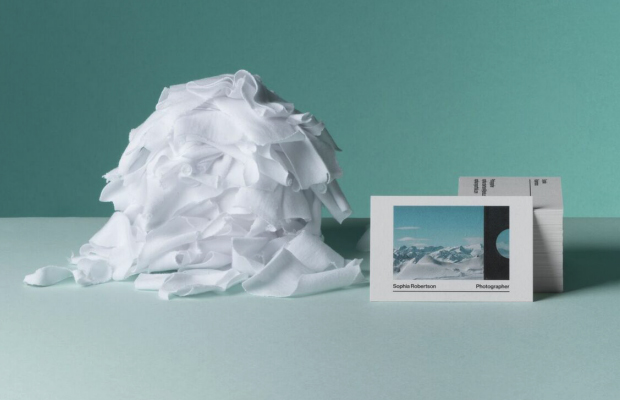 cartões de visita sustentáveis MOO Cotton