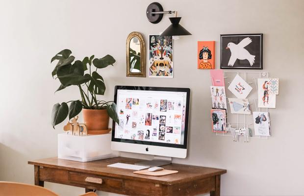 organização produtivo home office