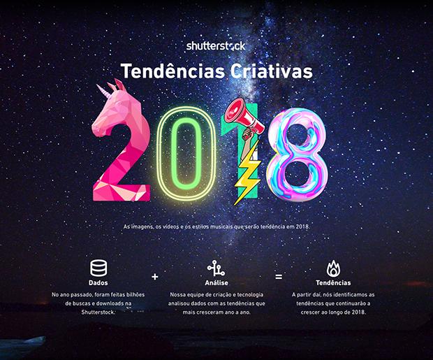 Infográfico traz as principais tendências criativas para o ano de 2018