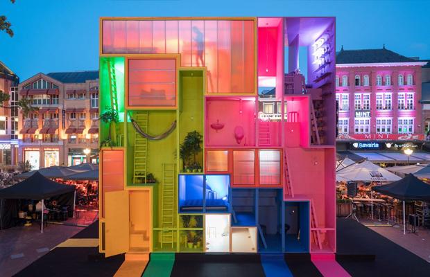 (W)ego hotel conceitual MVRDV arquitetura multicolorida