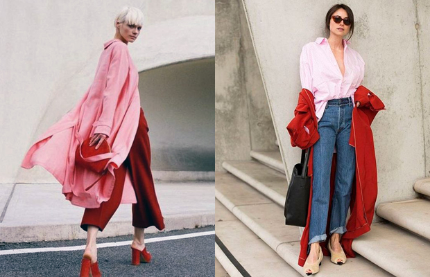 vermelho e rosa estilo outono inverno 2018