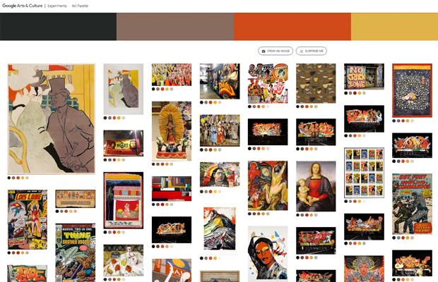 Google Art Palette: Ferramenta permite encontrar obras de arte com a mesma paleta de cores