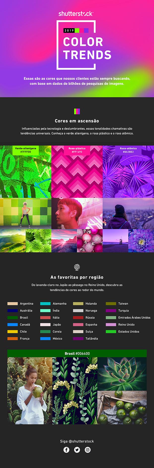 Color Trends 2019: Relatório identifica as cores que mais crescem em popularidade em todo o mundo